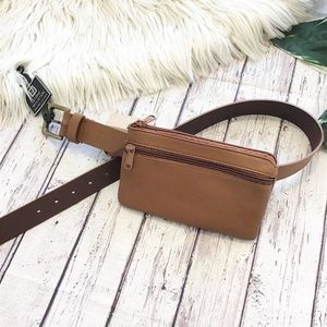 STONE MOUNTAIN Leather belt with bag NWT Women's S